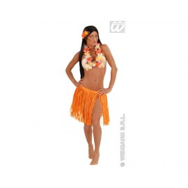 Falda Hawaiana con Collar. (Naranja)