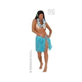 Falda Hawaiana con Collar. (Azul)