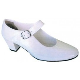 Zapatos Sevillana Color Blanco.