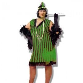 Disfraz Charlestone XL Verde