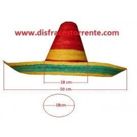 Sombrero Mejicano Tricolor Paja
