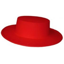 Sombrero Cordobes Plastico Rojo Infantil