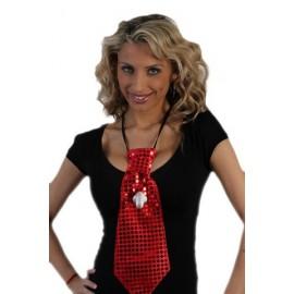 Corbata Lentejuelas Roja  Pito