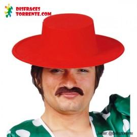 Sombrero Cordobés rojo adulto