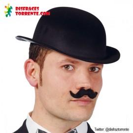 Bombin sombrero plástico negro
