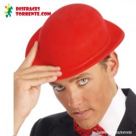 Bombin sombrero plástico rojo