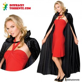 Capa Terciopelo Negra vampira