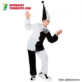 Disfraz Arlequin Pierrot Carnavales niños