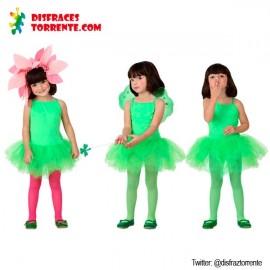 Disfraz bailarina hada verde niñas