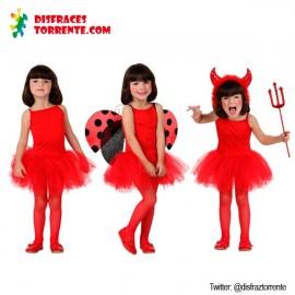 Disfraz de Bailarina Rojo niñas