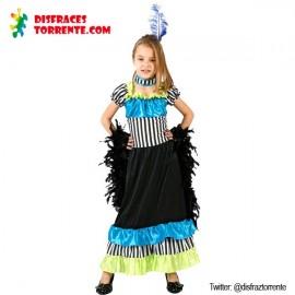 Disfraz bailarina cabaret rayas