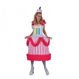 Disfraz de Tarta de Cumpleaños