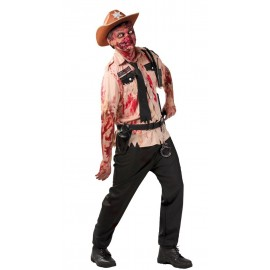 Disfraz de Policia Zombie Adulto