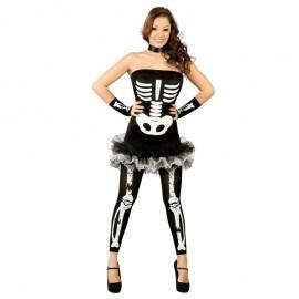 Disfraz mujer esqueleto sexy halloween