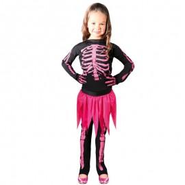 Disfraz esqueleto huesos rosa