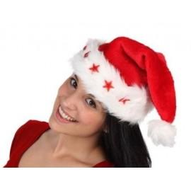 Gorro de Papa Noel Con Luces