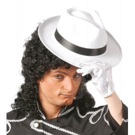 Sombrero de Ganster Blanco con Cinta Negra.