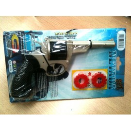 Pistola policia metal broma