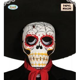 Careta de Esqueleto en Papel Mache