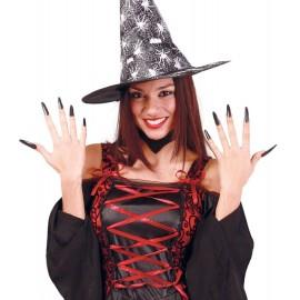 Uñas de Bruja en Color Negro