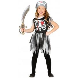 Disfraz Pirata Esqueleto Niña