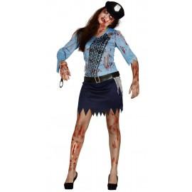 Disfraz Policia Zombie para Mujer