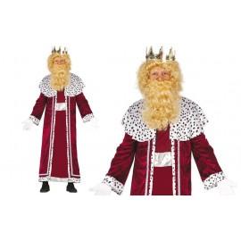 Disfraz de Rey mago Gaspar para Adulto.