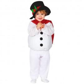 Disfraz de Muñeco de Nieve Bebe