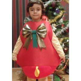 Disfraz de Campana de Navidad en Color Rojo.