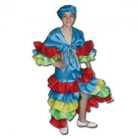 Disfraz Rumbera Azul (13-15 años)